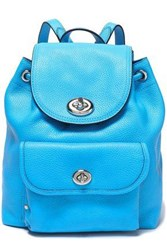 Coach Textured Leather Backpack Azure