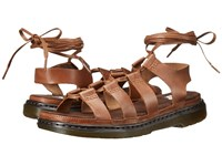 Dr. Martens Kristina Ghillie Sandal Tan Polished Oily Illusion Women's Sandals Brown