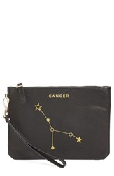 Etienne Aigner 'Zodiac Small Eve' Wristlet Black Cancer