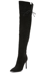 Schutz Dudalina Laced Thigh High Boots Black