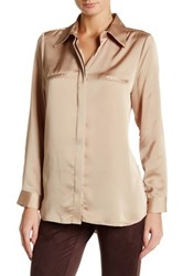 Insight Long Sleeve Pocket Detail Blouse Beige