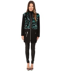 Versace Liquid Fur Wool Zip Jacket Foresta