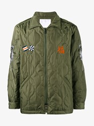 White Mountaineering Embroidered Quilted Jacket Green