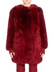 Sonia Rykiel Alpaca Fur Cape Jacket Red