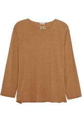 Red Valentino Redvalentino Cashmere And Silk Blend Sweater Tan