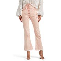 Ulla Johnson Ellis Crop Flared Jeans Pink