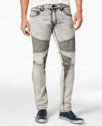 Inc International Concepts Men's Moto Skinny Jeans Only At Macy's Off White