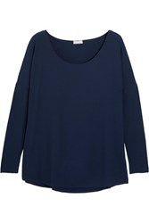 Hanro Helene Ribbed Stretch Modal Jersey Top Midnight Blue