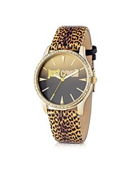 Just Cavalli Paradise Yellow Animal Print Women's Watch Multicolor