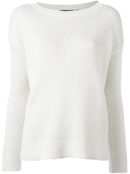 Theory Boat Neck Jumper White