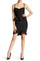 Wow Couture Ruffle Bodycon Skirt Black
