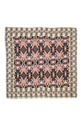 Sole Society 'S Baroque Pattern Wrap Scarf Pink Multi