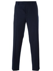 Ermanno Scervino Slim Fit Tailored Trousers Blue