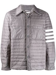 Thom Browne Fine Quilt Down Fill 4 Bar Shirt Jacket In Matte Finish 60