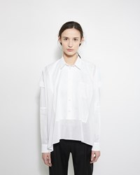 Maison Margiela Line 1 Cotton Patchwork Shirt White