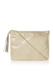 Biba Zip Top Chain Clutch Gold
