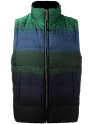 Missoni Striped Padded Gilet Green