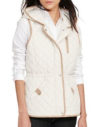 Lauren Ralph Lauren Quilted Hooded Vest White