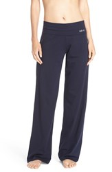 Naked Women's Wide Leg Stretch Cotton Pajama Pants Peacoat