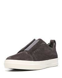 Vince Conway Suede Slip On Sneakers Gray