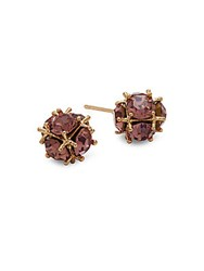 Saks Fifth Avenue Studded Ball Stud Earrings Gold