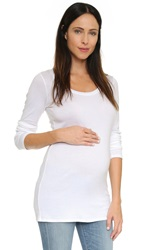 Ingrid And Isabel Long Sleeve Maternity Scoop Tee Bright White