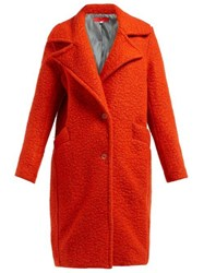 Eckhaus Latta Single Breasted Boiled Wool Blend Coat Red