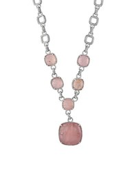 Effy Rose Quartz Sterling Silver Pendant Necklace Pink