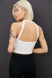 Truly Madly Deeply Cropped Harness Back Tank White