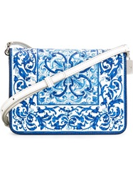 Dolce And Gabbana 'Majolica' Print Cross Body Bag Blue