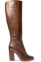 Tabitha Simmons Sophie Leather Knee Boots Dark Brown