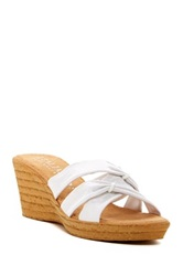 Italian Shoemakers Benny Wedge Sandal Wide Width Available White
