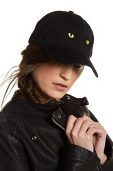 Body Rags Cat Eyes Embroidered Cap Black