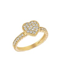 Morris And David 14Kt Yellow Gold Diamond Heart Ring