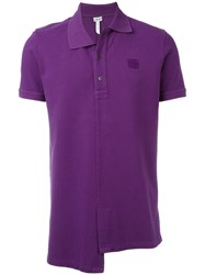 Loewe Asymmetric Hem Polo Shirt Pink Purple