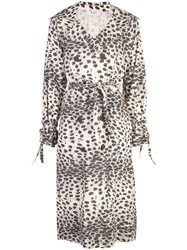 Sea Double Breasted Leopard Print Coat Neutrals
