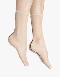 Hue Simply Skinny Backseam Sock Black