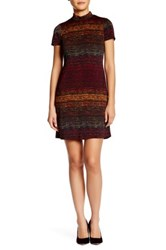 London Times Turtleneck Shift Dress Petite Multi