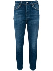 Citizens Of Humanity High Rise Skinny Jeans Blue