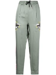 Diesel Swooping Eagle Track Pants Green