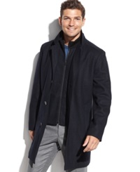 Tommy Hilfiger Single Breasted Overcoat Navy