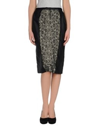 Dandg D And G Knee Length Skirts Black