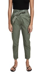 Sundry Paperbag Trousers Moss