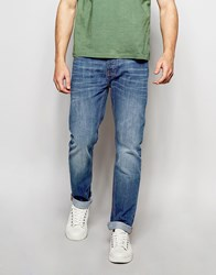 Bellfield Vintage Wash Slim Fit Jeans Blue