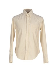 Band Of Outsiders Shirts Shirts Men Light Yellow