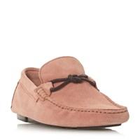 Bertie Bandit X Weave Knot Lace Driver Loafers Pink
