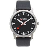 Mondaine Simply Elegant 41Mm Watch Black