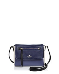 Kate Spade New York Cobble Hill Toddy Mini Color Block Crossbody Oyster Blue Creme Royal Blue Gold