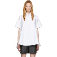 Thom Browne White Oversized Circle Shirt