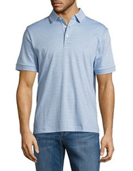 Nautica Striped Cotton Tee Noon Blue